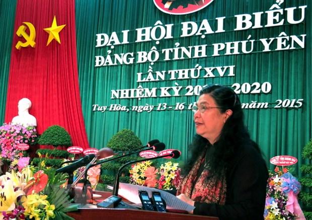 Khai mac Dai hoi dai bieu Dang bo tinh Phu Yen lan thu XVI hinh anh 1