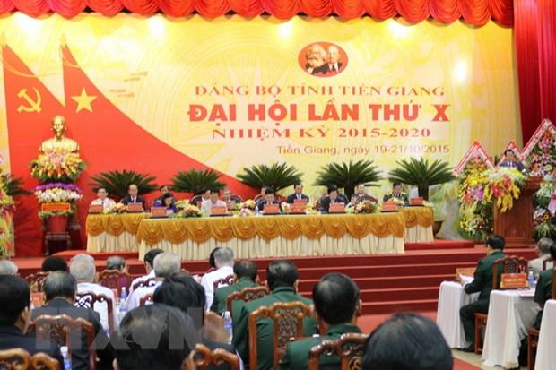 Khai mac Dai hoi dai bieu Dang bo tinh Tien Giang lan thu X hinh anh 1