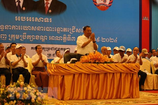 Campuchia: Dang CPP khoi dong chien dich tranh cu hoi dong dia phuong hinh anh 1