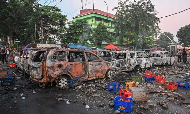 Indonesia: Nhieu nguoi thuong vong trong cac cuoc bieu tinh bao loan hinh anh 1