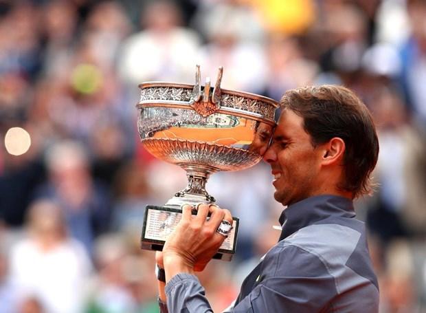 Ha Thiem, Rafael Nadal lan thu 12 len ngoi tai Roland Garros hinh anh 2