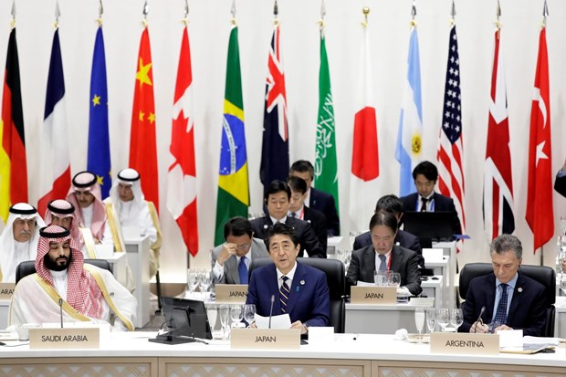 G20: Cac nha lanh dao thong qua Tuyen bo chung Osaka ve kinh te so hinh anh 1