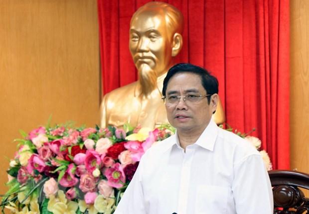Doan Tieu ban Van kien Dai hoi XIII khao sat va lam viec tai Ha Tinh hinh anh 1