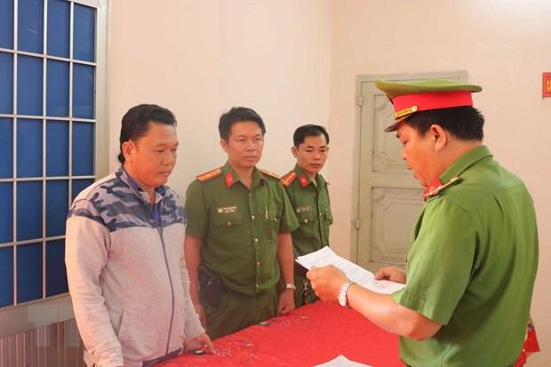 Tra Vinh: Bat 4 nguoi moi gioi nha dat gay that thoat tai san nha nuoc hinh anh 1
