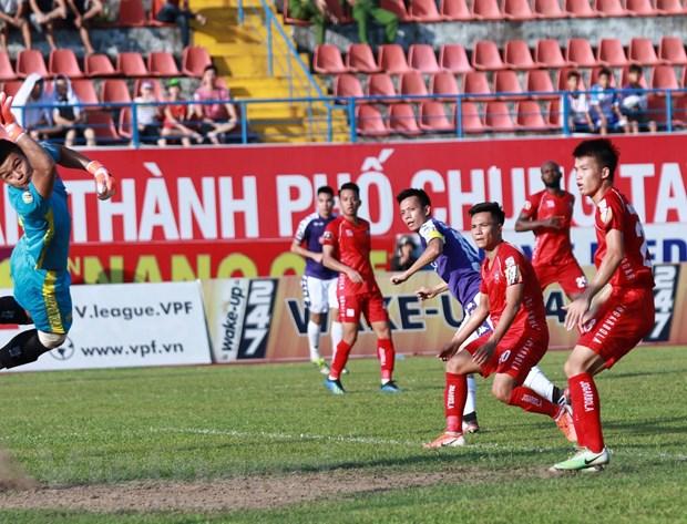 Danh bai Hai Phong, Ha Noi FC doi lai ngoi dau V-League 2019 hinh anh 1