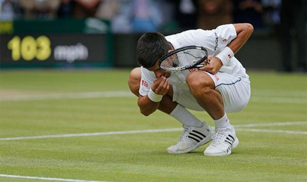 Tran chung ket trong mo Djokovic-Federer di vao lich su Wimledon hinh anh 1