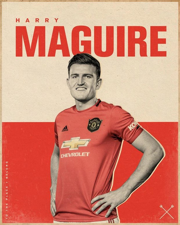 Hau ve Harry Maguire chinh thuc gia nhap Manchester United hinh anh 1