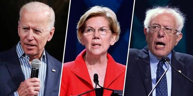 Cac ung cu vien Sanders va Warren thu hep khoang cach voi ong Biden hinh anh 1