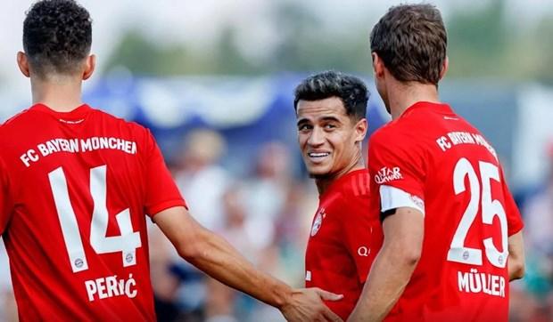 Video 'bom tan' Coutinho ghi ban dau tien cho Bayern Munich hinh anh 1