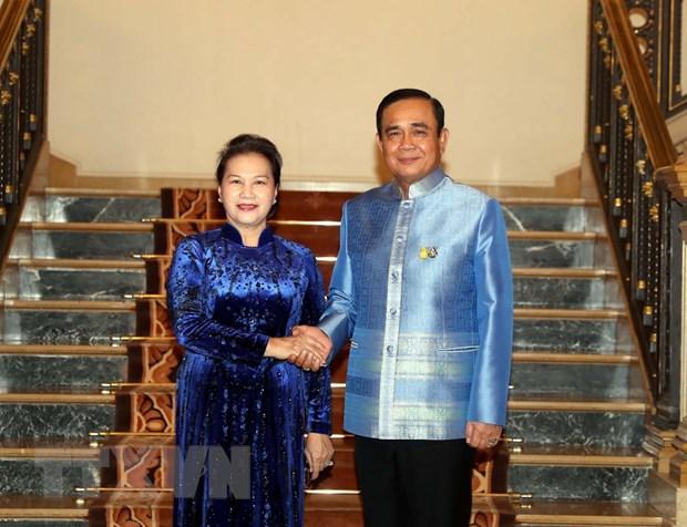 Chu tich Quoc hoi Nguyen Thi Kim Ngan ket thuc chuyen tham du AIPA 40 hinh anh 2