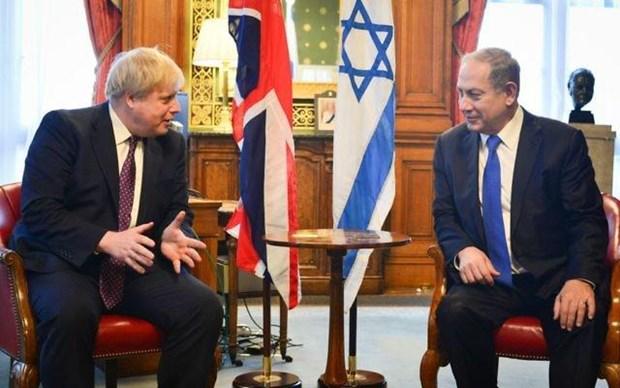 Thu tuong Israel Benjamin Netanyahu tham Anh truoc them bau cu hinh anh 1