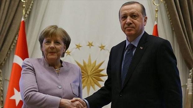 Lanh dao Tho Nhi Ky va Duc trao doi ve tinh hinh Syria va Libya hinh anh 1