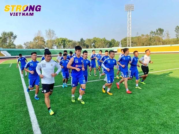 Ha Noi FC 'luyen cong,' san sang cho tran dau lich su voi April 25 hinh anh 1