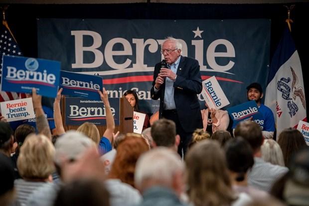 Bau cu My 2020: Ung cu vien Sanders da gay quy duoc hon 61 trieu USD hinh anh 1