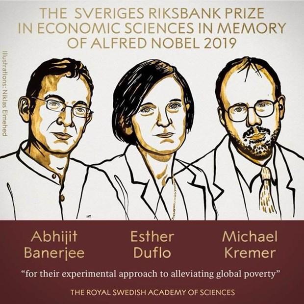 Ba nha kinh te hoc da gianh giai Nobel Kinh te nam 2019 hinh anh 1