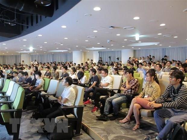 Người Việt tại Nhật Bản dự một hội thảo công nghệ ở thủ đô Tokyo. Ảnh: Đào Tùng/TTXVN