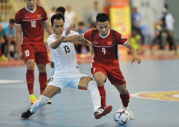 Thang dam Myanmar, tuyen Viet Nam gianh ve du VCK futsal chau A 2020 hinh anh 1