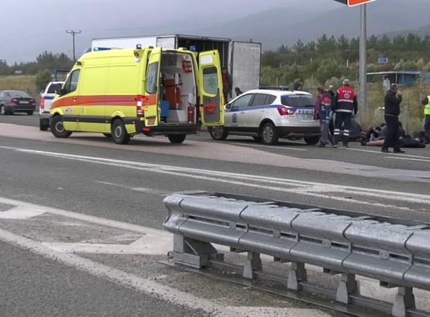 Cảnh sát đã chặn chiếc xe khả nghi trên tuyến đường gần Xanthi để tiến hành kiểm tra định kỳ. Nguồn: rtp.pt
