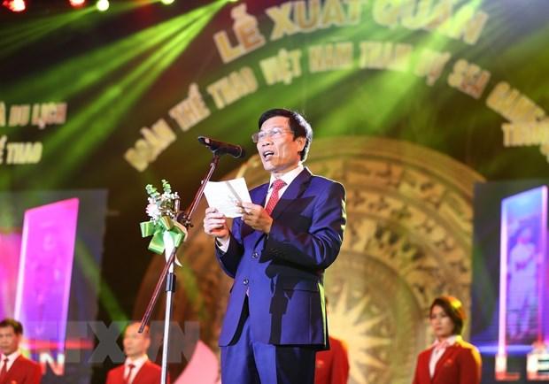 Le xuat quan Doan The thao Viet Nam tham du SEA Games 30 hinh anh 1