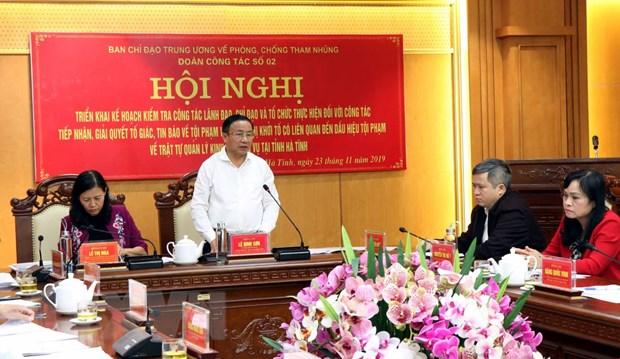 Doan cong tac cua Ban chi dao Trung uong lam viec tai Ha Tinh hinh anh 1