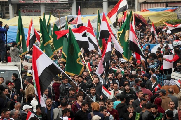 Iraq: Nhieu nguoi bieu tinh bi tan cong o trung tam thu do Baghdad hinh anh 1