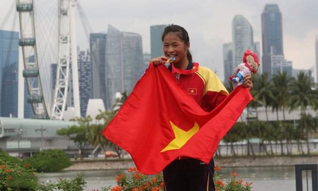 Truong Thi Phuong gianh cu dup huy chuong Vang tai SEA Games 30 hinh anh 1