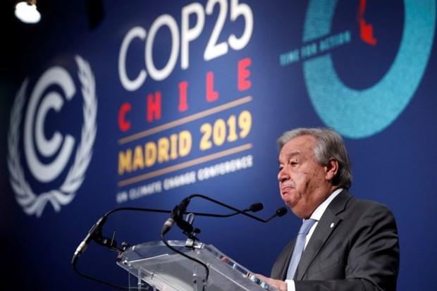 Hoi nghi COP 25: Tong thu ky LHQ that vong ve ket qua hoi nghi hinh anh 1