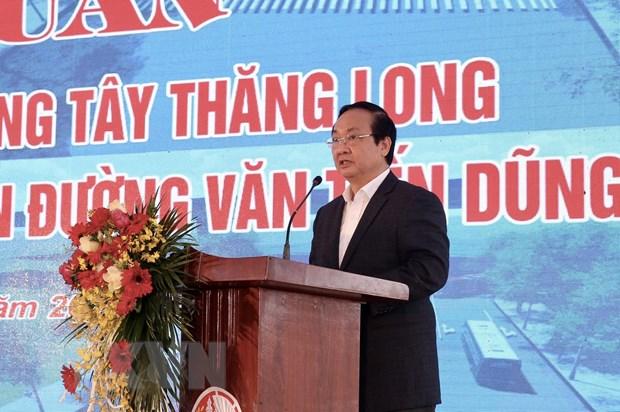 Thanh pho Ha Noi khoi cong xay dung duong Tay Thang Long hinh anh 1