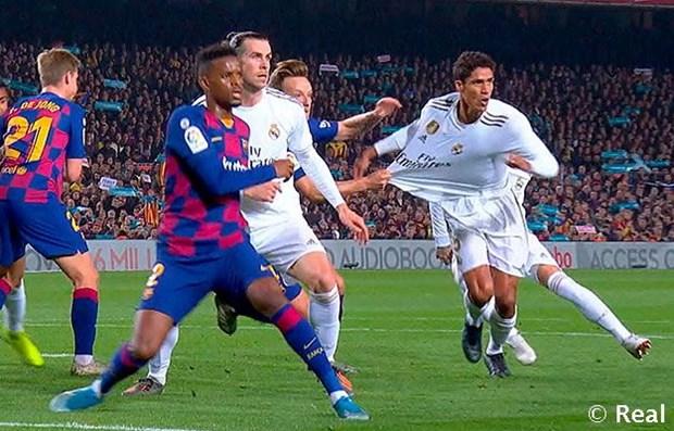 Real chia diem dang tiec truoc Barcelona ngay tai Nou Camp hinh anh 1