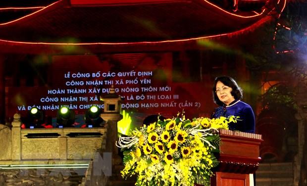 Thai Nguyen: Thi xa Pho Yen nhan Huan chuong Lao dong hang Nhat hinh anh 1