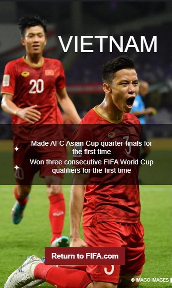 Tuyen Viet Nam duoc FIFA vinh danh sau nhung ky tich trong nam 2019 hinh anh 1