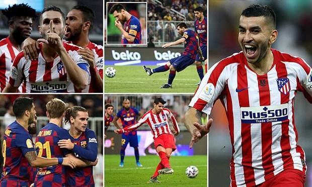 Ha Barcelona, Atletico doi dau Real o tran tranh Sieu cup hinh anh 1