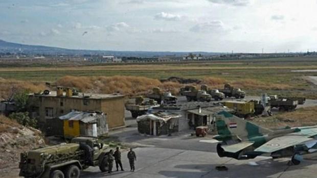May bay chien dau Israel khong kich can cu khong quan Syria hinh anh 1
