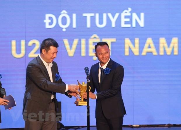 HLV Park Hang-seo va U22 Viet Nam duoc vinh danh tai Cup Chien thang hinh anh 1