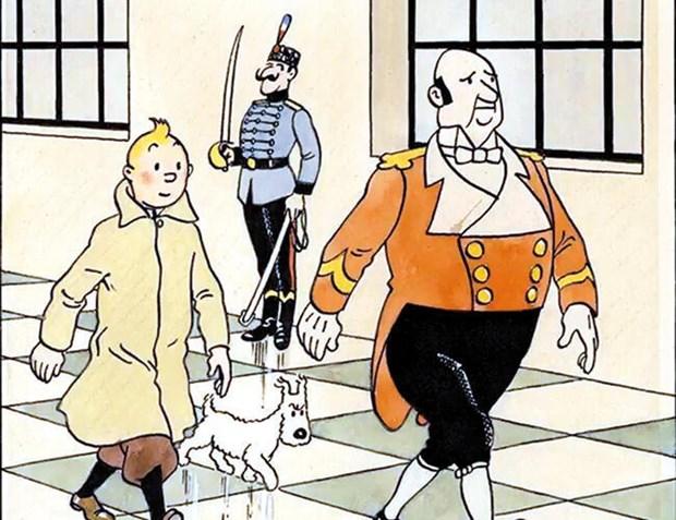 Dau gia trang bia trong bo comic 'Nhung cuoc phieu luu cua Tintin' hinh anh 1
