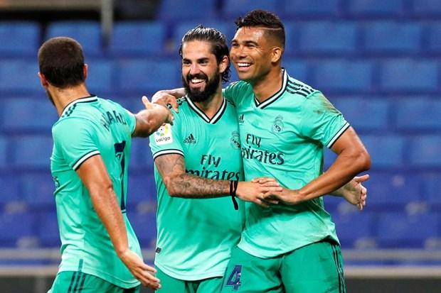 Danh bai Espanyol, Real Madrid doi lai ngoi dau tu tay Barcelona hinh anh 1