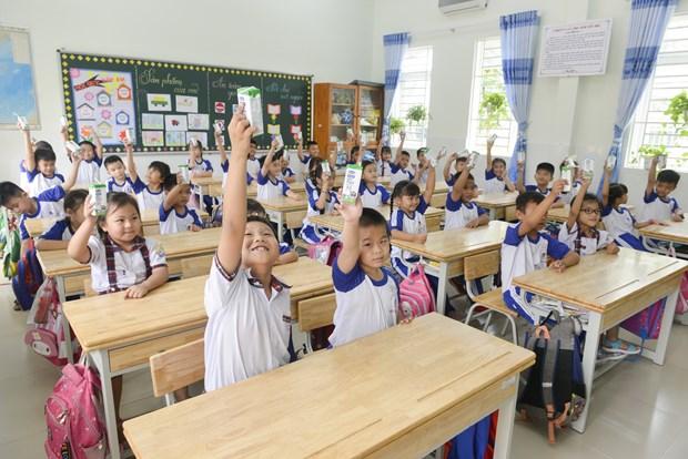Niem vui uong sua hoc duong an toan tai Thanh pho Ho Chi Minh hinh anh 1