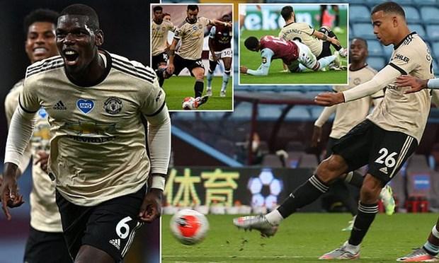 Fernandes, Greenwood, Pogba ghi ban, M.U chi con kem Leicester 1 diem hinh anh 1