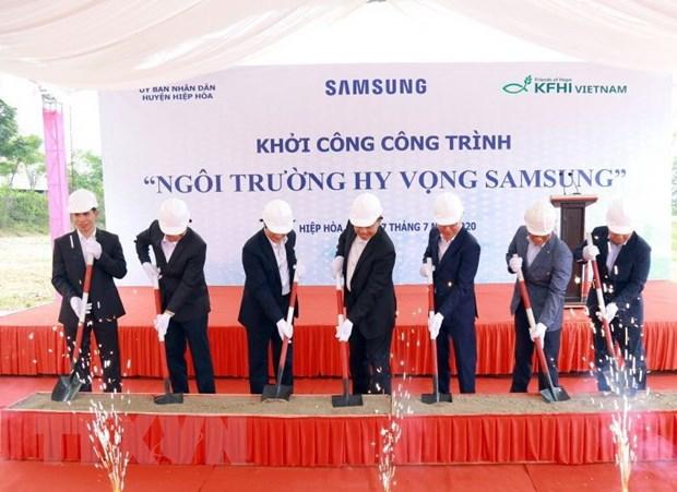 Gan 20 ty dong xay dung Ngoi truong Hy vong Samsung tai Bac Giang hinh anh 1