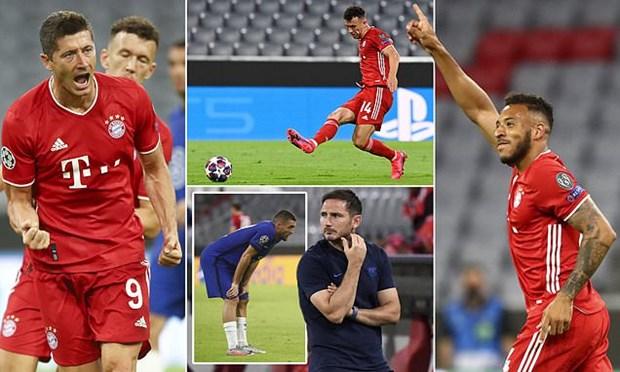 Bayern hien ngang vao tu ket Champions League voi tong ty so 7-1 hinh anh 1