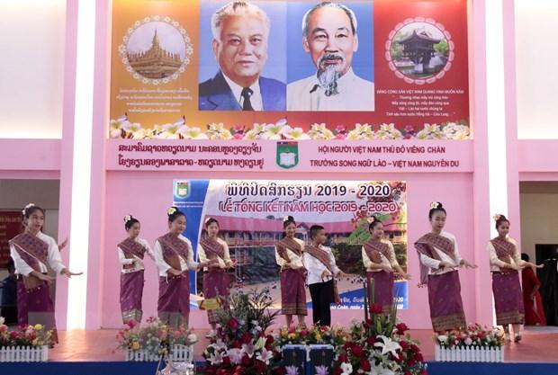 Truong song ngu Lao-Viet Nam Nguyen Du khai giang nam hoc moi hinh anh 1
