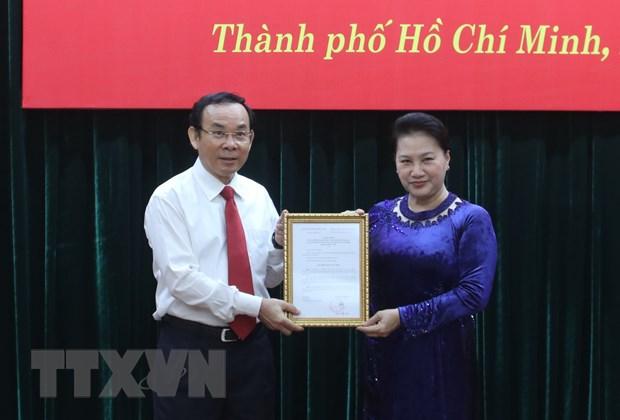 Dong chi Nguyen Van Nen duoc gioi thieu bau lam Bi thu TP.HCM hinh anh 1