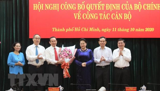 Dong chi Nguyen Van Nen duoc gioi thieu bau lam Bi thu TP.HCM hinh anh 2