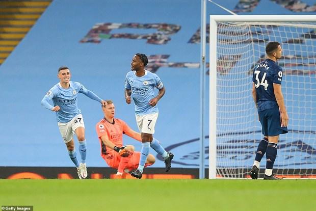 Premier League: Man City ha Arsenal, M.U gianh chien thang tung bung hinh anh 1