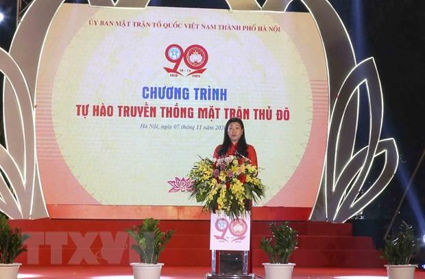 Ha Noi to chuc Le ky niem 90 nam Ngay truyen thong MTTQ Viet Nam hinh anh 1