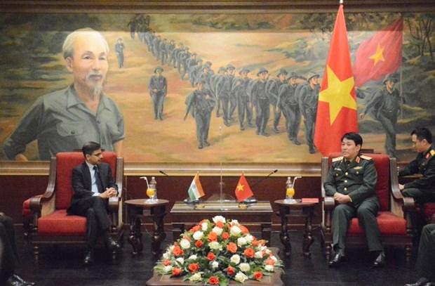 Chu nhiem Tong cuc Chinh tri QDND Viet Nam tiep Dai su An Do hinh anh 1
