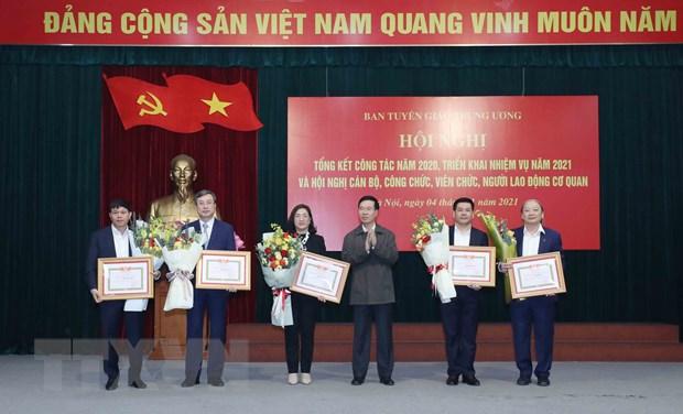 Ban Tuyen giao Trung uong trien khai nhiem vu nam 2021 hinh anh 1