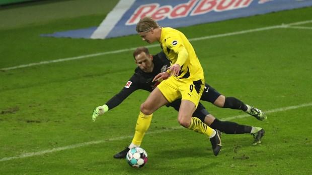 Sancho va Haaland ghi ban, Dortmund ngan RB Leipzig len ngoi dau hinh anh 1