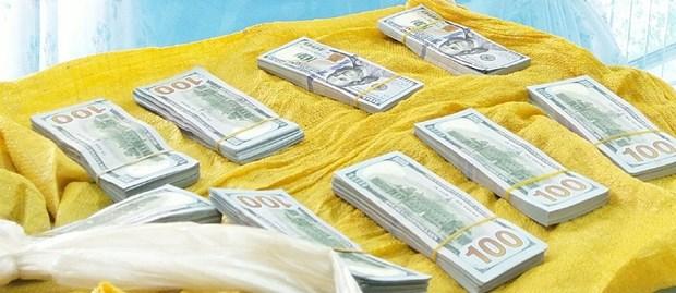 Bat giu hai doi tuong van chuyen 86.200 USD trai phep qua bien gioi hinh anh 1