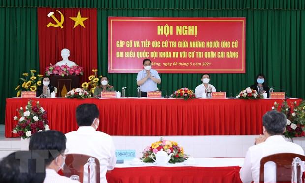 Thu tuong Pham Minh Chinh tiep xuc cu tri thanh pho Can Tho hinh anh 1